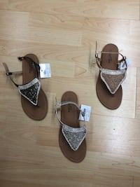 pair of brown-and-white sandals Miami, 33175