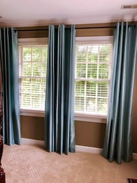 2 pair turquoise drapes  Raleigh, 27615