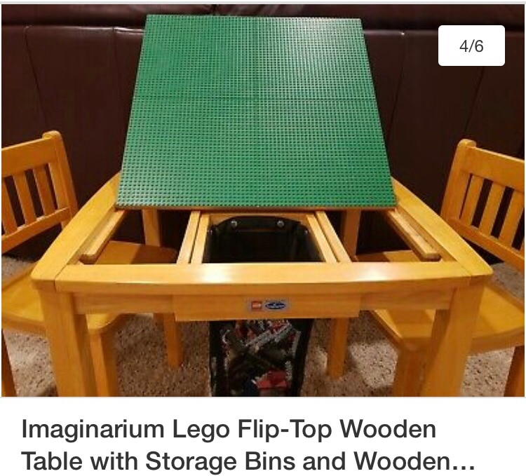 Lego Flip Top Table, Imaginarium Lego Table With Chairs