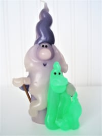 "NEGOTIABLE - HANDCRAFTED SIGNED ""WEE WIZARDS COLLECTOR'S SERIES"" CANDLE"