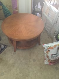 round brown wooden table with two chairs Spokane, 99205