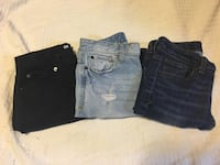 two blue and one black denim shorts Portage, 53901