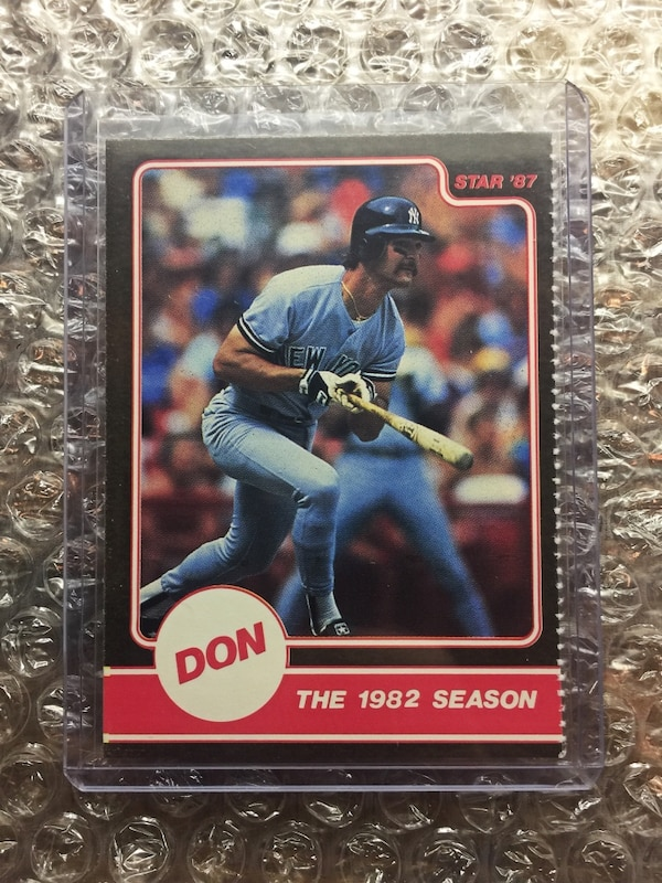 1987 Rare Don Mattingly The Star Company Baseball Trading Card Gem Mint