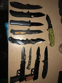 Knife collection. $5 each or all for $30. Hampstead, 21074