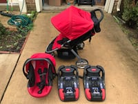Britax B agile red and black travel system Alexandria, 22303