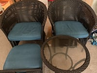 Patio set with foot stool