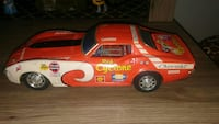 red and white racing car diecast