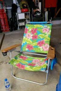 blue, green, and pink floral camping chair Houston, 77095
