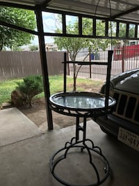 round glass-top table Laredo, 78043