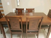 brown wooden dining table with chairs Brampton, L6W 1S9