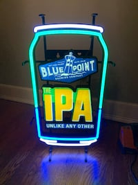 Blue point IPA beer led sign