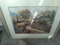 brown wooden framed painting of house Warner Robins, 31088