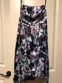 Purple and blue floral sleeveless dress Edmonton, T6W 2H3