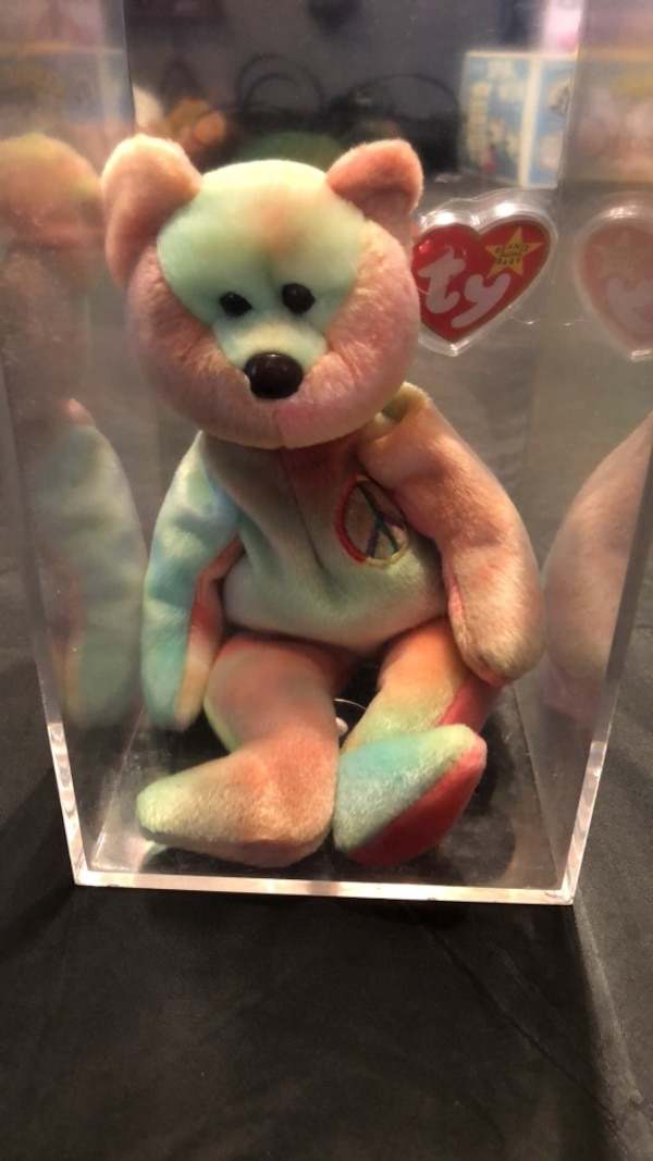 Used TY beanie baby peace bear for sale in Irving - letgo 36f10b9e87f