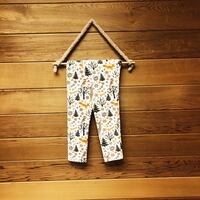 white and brown floral pants 308 mi