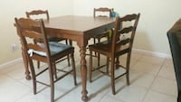 Table with 4 chairs (6 if you want)