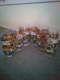 Set of 6 McDonald's The Great Muppet Caper Glasses 899 mi