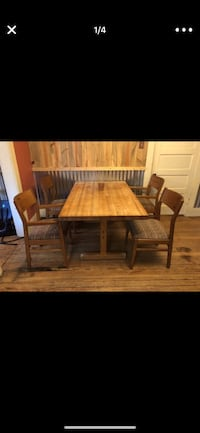 brown wooden table with chairs Pottsboro, 75076