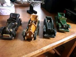 Vintage antique wooden handcrafted cars