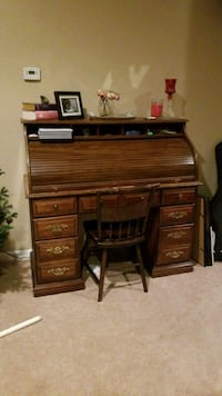 brown wooden roll-top desk Holbrook, 11741