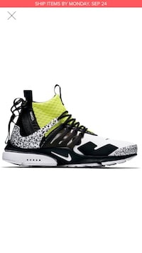 Nike presto acronym black and dynamic yellow  Miami, 33131