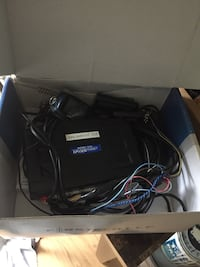 black and gray Linksys wireless router box 302 mi
