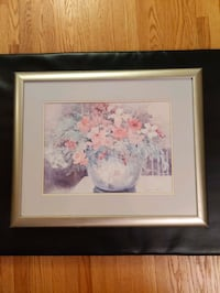 Flower Painting with Silver Frame