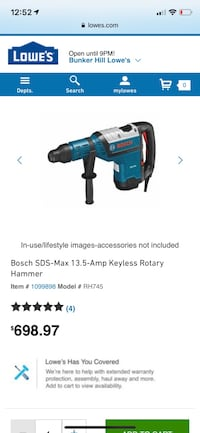 black and blue Bosch cordless impact wrench Houston, 77041