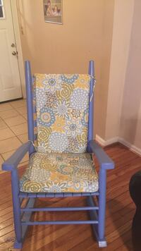 blue and yellow floral print rocking armchair Parkville, 21234