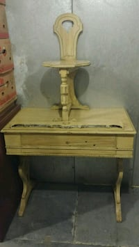 Antique Desk With Chair