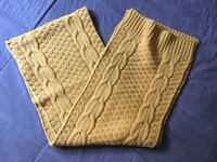 ASOS Cable Knit Scarf One Size Acrylic Yellow Winnipeg, R3L 0L8