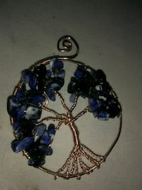 blue and gold-colored tree of life pendant Ferndale, 98248