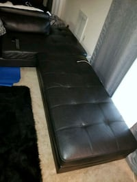 black leather sectional sofa with ottoman Washington, 20024