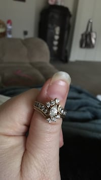 Gold and diamond embellished ring. I have appraisal papers as well.  MD only sales Laurel, 20708