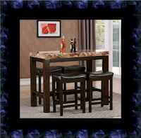 5pc Pub table with 4 stools Herndon, 20171
