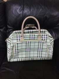 Burberry pattern Green and white plaid  carry-on tote Vaughan, L4L 1S2