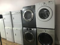 white front-load washer and dryer set 790 km