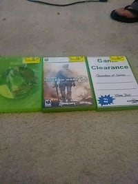 three Xbox One game cases Colorado Springs, 80910