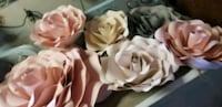 6 Paper Flowers Pink, Gray and Rose. Downey, 90241