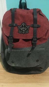 Red and grey roots backpack