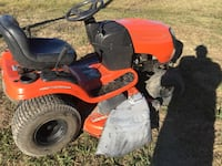 red and black ride on mower Talty, 75160