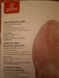 9 in. 4-7 lbs. Pink Himalayan Salt Lamp with Wood Base North Vancouver, V7M