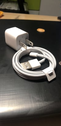 iPhone original cable and charger head (New) New York, 11204
