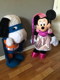 Snoopy and Minnie Mouse all ready for Halloween! 2' tall!  Wichita, 67212