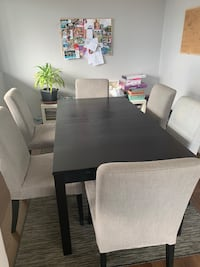 IKEA table and 6 chairs with washable covers Mississauga, L5A