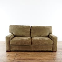 Macy's American Leather Upholstered Two Cushion Suede Sofa Bed (1018115) South San Francisco