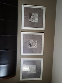 three white wooden photo frames Kelowna, V1X 7C8