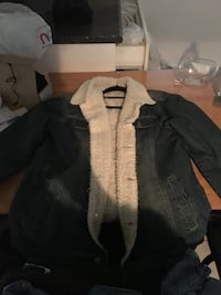 Men's Large Jean Wool Jacket