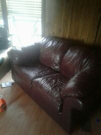 brown leather 3-seat sofa Stillwater, 74074
