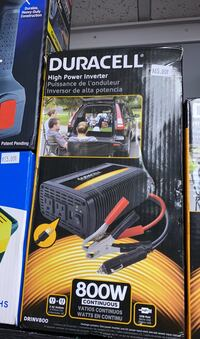 Duracell high power inverter 800w continuous